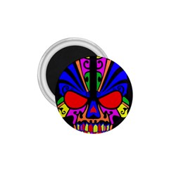 Skull In Colour 1 75  Button Magnet by icarusismartdesigns