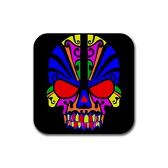Skull In Colour Drink Coasters 4 Pack (square) by icarusismartdesigns