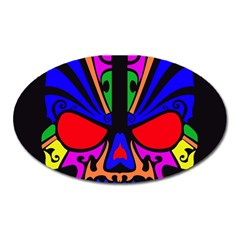Skull In Colour Magnet (oval) by icarusismartdesigns