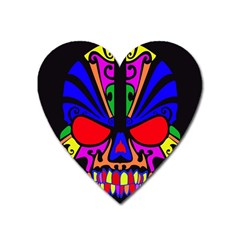 Skull In Colour Magnet (heart) by icarusismartdesigns