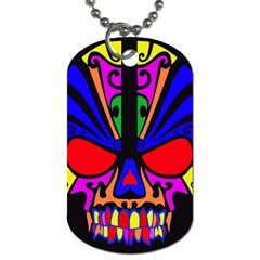 Skull In Colour Dog Tag (two Sided)  by icarusismartdesigns