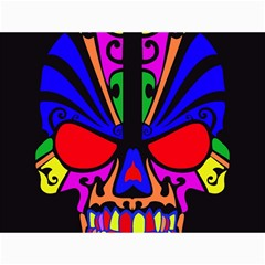 Skull In Colour Canvas 12  X 16  (unframed) by icarusismartdesigns