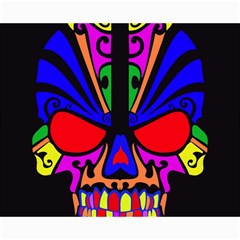 Skull In Colour Canvas 16  X 20  (unframed) by icarusismartdesigns