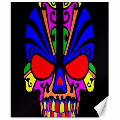 Skull In Colour Canvas 20  X 24  (unframed) by icarusismartdesigns