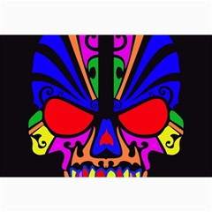 Skull In Colour Canvas 20  X 30  (unframed) by icarusismartdesigns