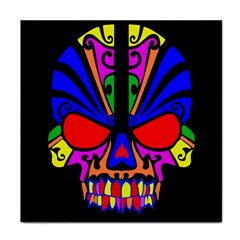 Skull In Colour Face Towel by icarusismartdesigns