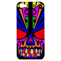 Skull In Colour Apple Iphone 5 Hardshell Case by icarusismartdesigns