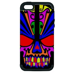 Skull In Colour Apple Iphone 5 Hardshell Case (pc+silicone) by icarusismartdesigns