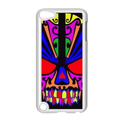 Skull In Colour Apple Ipod Touch 5 Case (white) by icarusismartdesigns
