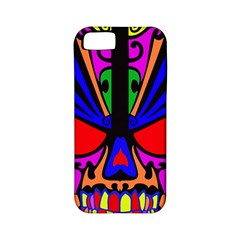 Skull In Colour Apple Iphone 5 Classic Hardshell Case (pc+silicone) by icarusismartdesigns
