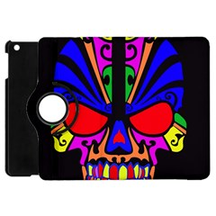 Skull In Colour Apple Ipad Mini Flip 360 Case by icarusismartdesigns