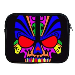 Skull In Colour Apple Ipad Zippered Sleeve by icarusismartdesigns