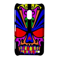 Skull In Colour Nokia Lumia 620 Hardshell Case by icarusismartdesigns