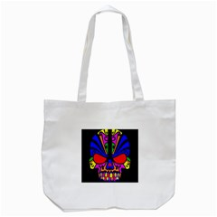 Skull In Colour Tote Bag (white) by icarusismartdesigns