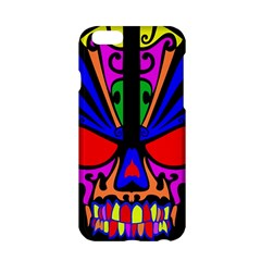 Skull In Colour Apple Iphone 6 Hardshell Case by icarusismartdesigns