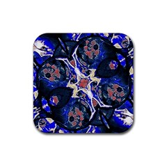 Decorative Retro Floral Print Drink Coasters 4 Pack (square) by dflcprints