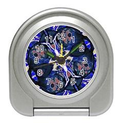 Decorative Retro Floral Print Desk Alarm Clock by dflcprints