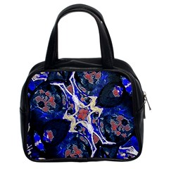 Decorative Retro Floral Print Classic Handbag (two Sides) by dflcprints