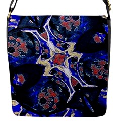 Decorative Retro Floral Print Flap Closure Messenger Bag (small) by dflcprints