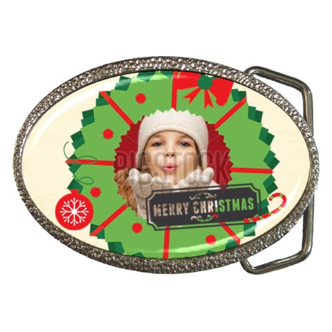 Christmas By Xmas   Belt Buckle   P6gv4n42qz5v   Www Artscow Com Front