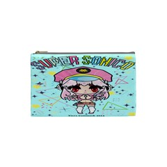 Super Sonico Small Bag Sax By Oniryusei   Cosmetic Bag (small)   Llpm9jy6naxf   Www Artscow Com Front