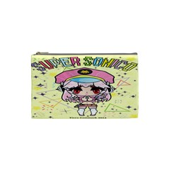 Super Sonico Small Bag Yellow By Oniryusei   Cosmetic Bag (small)   Uv2b7bw79j5v   Www Artscow Com Front