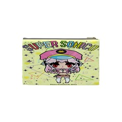 Super Sonico Small Bag Yellow By Oniryusei   Cosmetic Bag (small)   Uv2b7bw79j5v   Www Artscow Com Back
