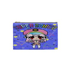 Super Sonico Small Bag Blue Purple By Ichigo Kuriimu Ryusei   Cosmetic Bag (small)   Xxis0n36errz   Www Artscow Com Front
