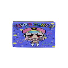 Super Sonico Small Bag Blue Purple By Ichigo Kuriimu Ryusei   Cosmetic Bag (small)   Xxis0n36errz   Www Artscow Com Back