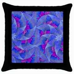 Abstract Deco Digital Art Pattern Black Throw Pillow Case by dflcprints