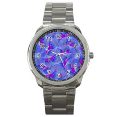 Abstract Deco Digital Art Pattern Sport Metal Watch by dflcprints