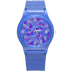 Abstract Deco Digital Art Pattern Plastic Sport Watch (small) by dflcprints