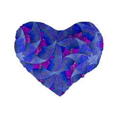 Abstract Deco Digital Art Pattern 16  Premium Heart Shape Cushion  by dflcprints