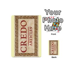 Credo   Deck 8 By Mike   Playing Cards 54 (mini)   Kg8eu6tcxgks   Www Artscow Com Back