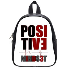 Positive Mindset School Bag (small) by atldezigns