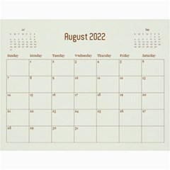 Wall Calendar 11 X 8 5 By Deca   Wall Calendar 11  X 8 5  (12 Months)   Dd11db31r65w   Www Artscow Com Aug 2015