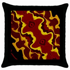 Tribal Summer Nightsdreams Pattern Black Throw Pillow Case by dflcprints