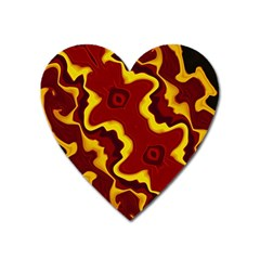 Tribal Summer Nightsdreams Pattern Magnet (heart) by dflcprints
