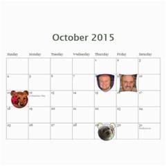 2015 Calendar Us By Kristi   Wall Calendar 11  X 8 5  (12 Months)   Ayaf333cbkmr   Www Artscow Com Oct 2015