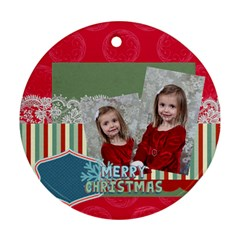 Merry Christmas By Xmas   Round Ornament (two Sides)   2dyjquvtn9xb   Www Artscow Com Back