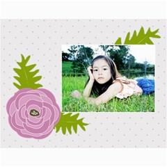 Wall Calendar 11 X 8 5 : Ranunculus Flowers By Jennyl   Wall Calendar 11  X 8 5  (12 Months)   6blofgrmmo14   Www Artscow Com Month
