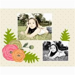 Wall Calendar 11 X 8 5 : Ranunculus Flowers2 By Jennyl   Wall Calendar 11  X 8 5  (12 Months)   Nblod9npjmx1   Www Artscow Com Month