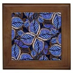 Fantasy Nature Pattern Print Framed Ceramic Tile by dflcprints