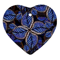 Fantasy Nature Pattern Print Heart Ornament by dflcprints