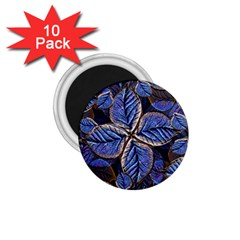 Fantasy Nature Pattern Print 1 75  Button Magnet (10 Pack) by dflcprints