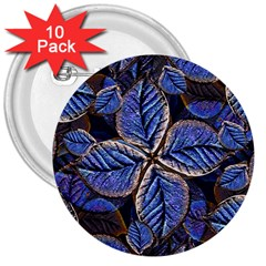 Fantasy Nature Pattern Print 3  Button (10 Pack) by dflcprints