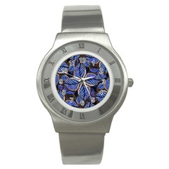 Fantasy Nature Pattern Print Stainless Steel Watch (slim) by dflcprints