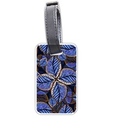 Fantasy Nature Pattern Print Luggage Tag (two Sides) by dflcprints