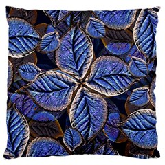 Fantasy Nature Pattern Print Large Cushion Case (two Sided)  by dflcprints