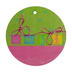 Round Ornament Two Sides By Deca   Round Ornament (two Sides)   Nqaabdhr2slg   Www Artscow Com Back